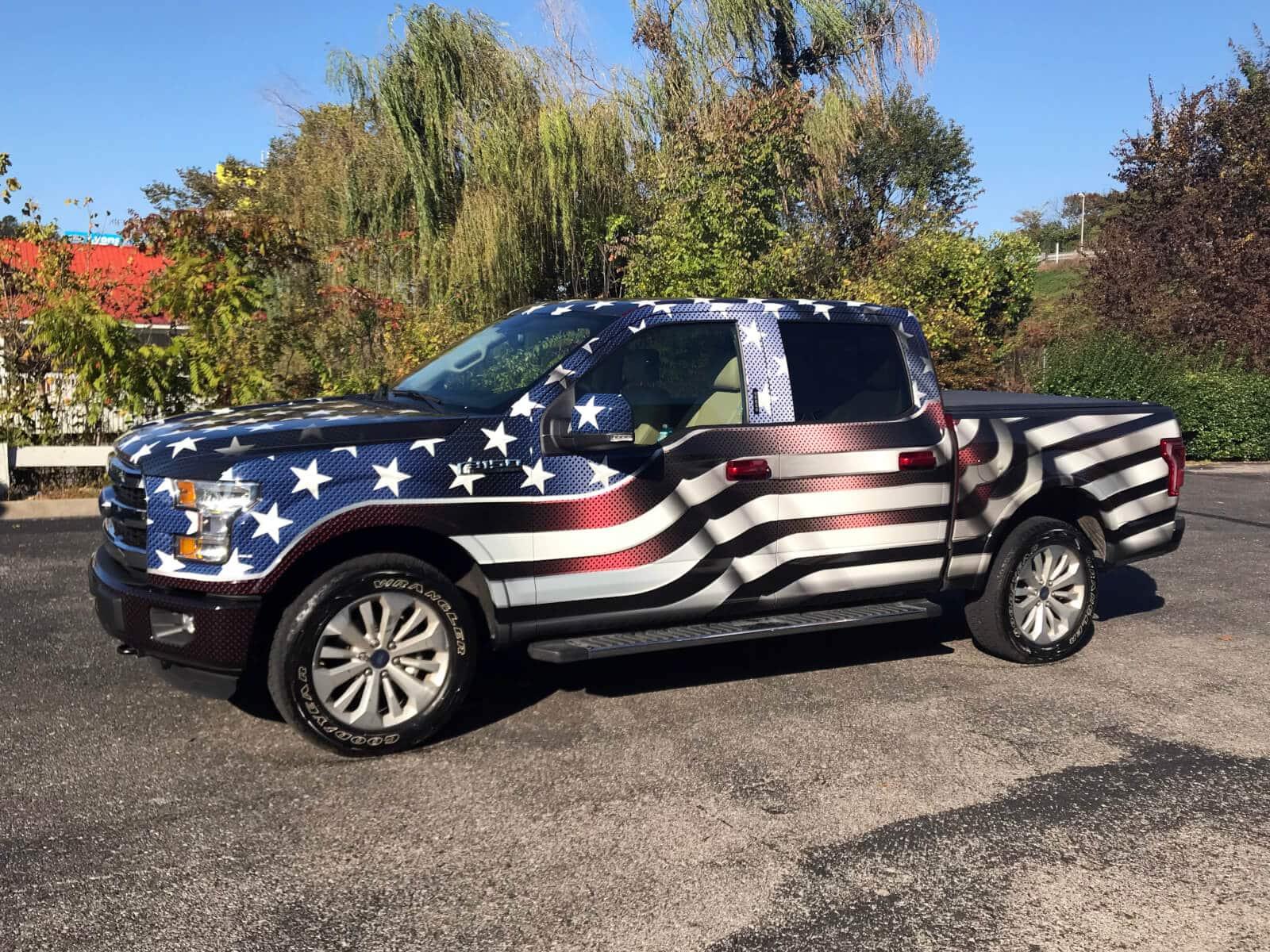Custom Designed American Flag Wrap 12 Point Signworks
