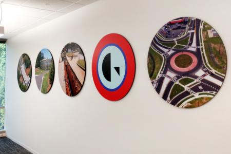 Circular Photo/ Branding Display for Gresham Smith