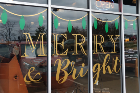 Custom Cut Vinyl Graphics for Embers Grill & Fireplace Store in Brentwood, TN by 12-Point SignWorks