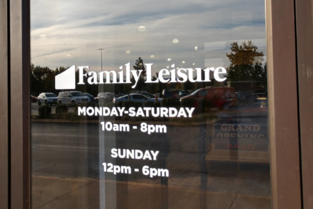Window Graphics for Family Leisure in Franklin. 12-Point SignWorks - Franklin, TN