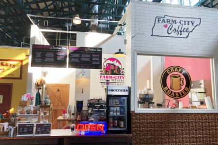 Custom Menu Boards and Textured Logo Wall Graphics for Farm City Coffee/ Nashville/ 12-Point SIgnWorks