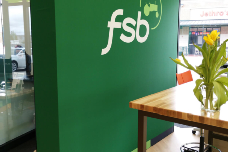 Silicone Edge Graphic Display (SEGs) for Farmers State Bank (FSB) in Iowa/ 12-Point SignWorks