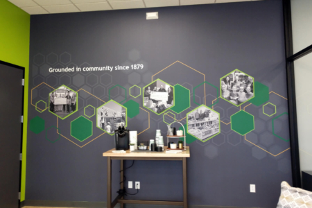 Vinyl Wall Mural for Farmers State Bank (FSB) in Iowa/ 12-Point SignWorks/ Wall Graphics