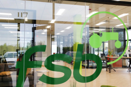 Window Graphics for Farmers State Bank cut and installed by 12-Point SignWorks.