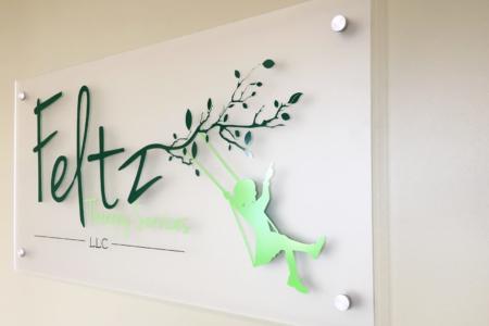 Dimensional Logo Panel/ Acrylic Logo for Feltz Therapy Services, LLC