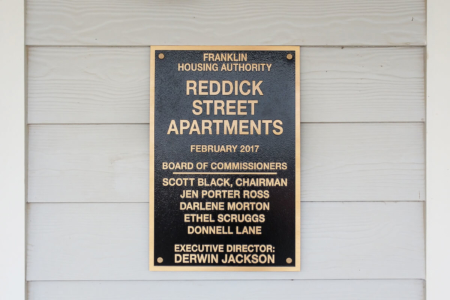 Custom Plaque for the Franklin Housing Authority by 12-Point SignWorks in Franklin, TN.