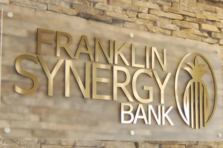 Golden Dimensional Logo & Acrylic Wall Panel for Franklin Synergy Bank/ 12-Point SignWorks