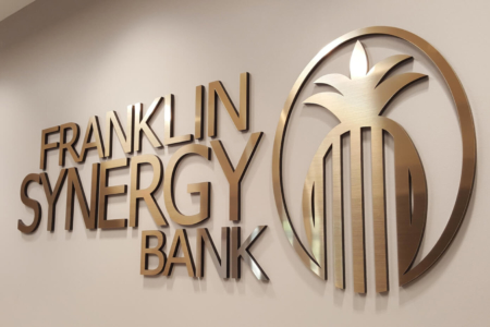 Dimensional Wall Logo for Franklin Synergy Bank/ Facility Graphics/ 12-Point SignWorks