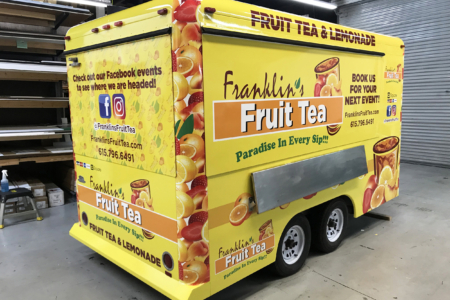 Food Truck Wrap for Franklin's Fruit Tea/ 12-Point SignWorks/ Franklin TN