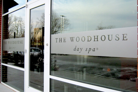 Frosted Window Graphics for The Woodhouse Day Spa Nashville, TN/ 12-Point SignWorks