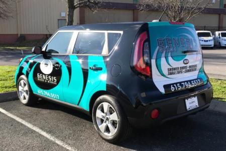 Vehicle Wrap for Genesis Glass & Mirror/ Fleet Graphics/ 12-Point SignWorks