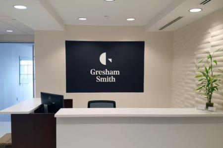 Custom Lobby Graphic/ Logo Brand Mark for Gresham Smith/ Franklin/ 12-Point SignWorks
