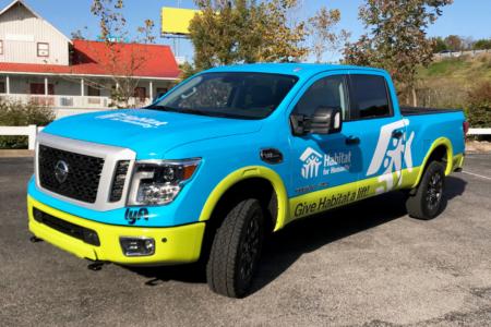 Truck Wrap for Habitat for Humanity/ Nashville/ 12-Point SignWorks