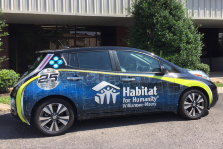 Vehicle Wrap installed by 12-Point SignWorks for Habitat of Humanity