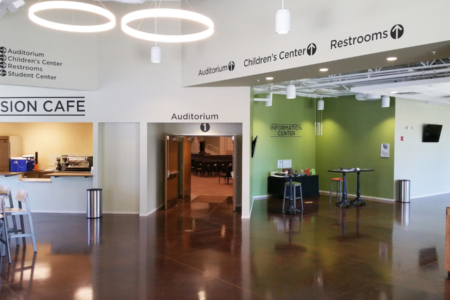 Experiential Graphics for Harpeth Christian Church in Franklin, TN/ 12-Point SignWorks/ Wall Graphics