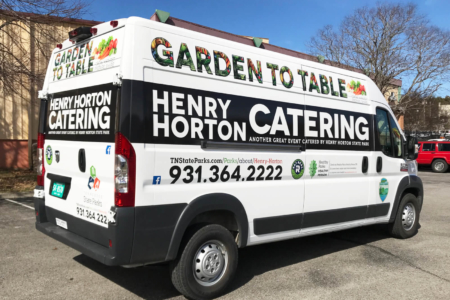 Vehicle Wrap for Henry Horton Catering/ Fleet Graphics/ 12-Point SignWorks