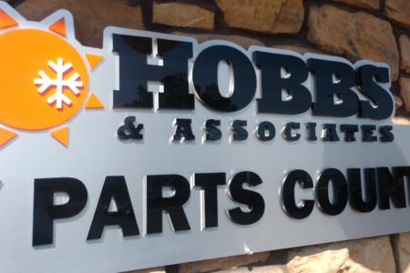 Custom Outdoor Signage for Hobbs & Associates/ 12-Point SignWorks/ Nashville