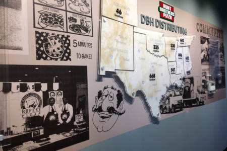 Architectural Display for Hunt Brothers Pizza by 12-Point SignWorks in Franklin, TN.