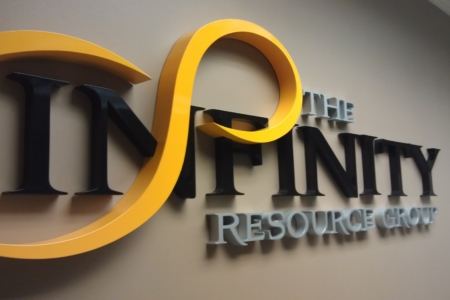 Dimensional Logo/ Lettering for The Infinity Resource Group/ Franklin/ 12-Point SignWorks