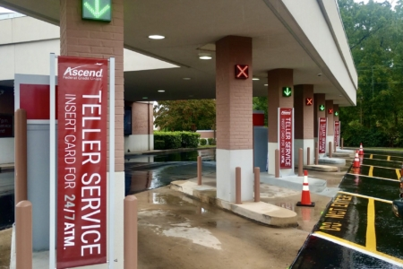 Teller Banners for Ascend Federal Credit Union in Tullahoma, TN: 12-Point SignWorks