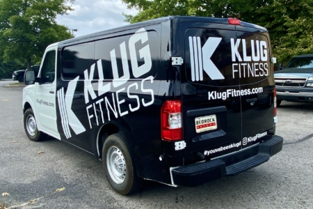 Van Wrap for Klug Fitness in Nashville, TN; installed by 12-Point SignWorks