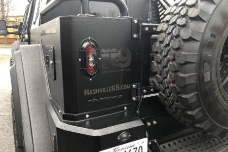 Vehicle Decals for Nashville K-9, printed and installed by 12-Point SignWorks/ Franklin, TN