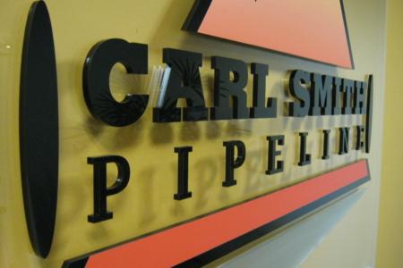 Custom Acrylic Logo/ Lobby Graphic for Carl Smith Pipeline
