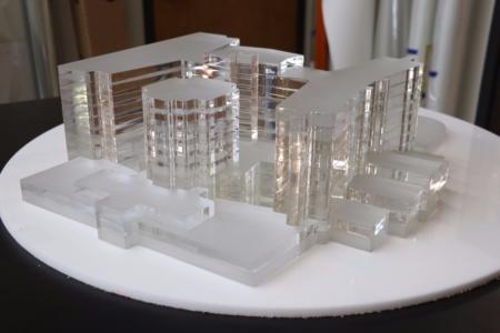 Laser-Cut Acrylic Hospital Model for Gresham, Smith and Partners/ 12-Point SignWorks