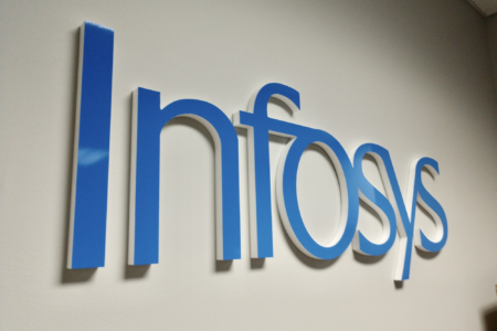 Dimensional Lettering/ Wall Logo for Infosys Limited in Brentwood, TN/ 12-Point SignWorks