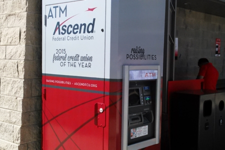 Custom ATM & Light Box Graphics for Ascend Federal Credit Union/ Franklin/ Fabricated & Installed by 12-Point SignWorks