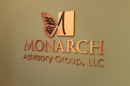 Custom Copper Logo Sign for the Monarch Advisory Group/ Franklin/ 12-Point SignWorks