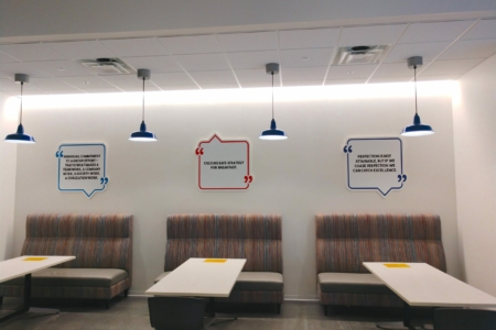 21140 Experiential Branding Project with Gresham Smith - Dimensional Wall Graphics/ 12-Point SignWorks Franklin