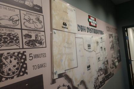 Timeline Display for Hunts Brothers/ 12-Point SignWorks