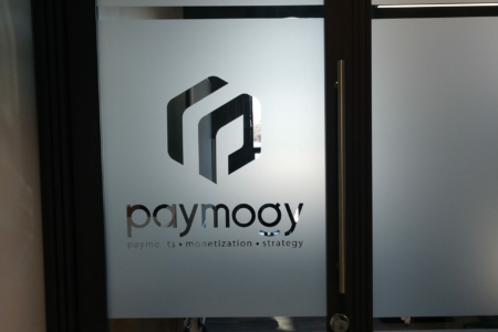 Frosted Privacy Vinyl for Nashville Financial Company Paymogy/ E-Spaces/ 12-Point SignWorks