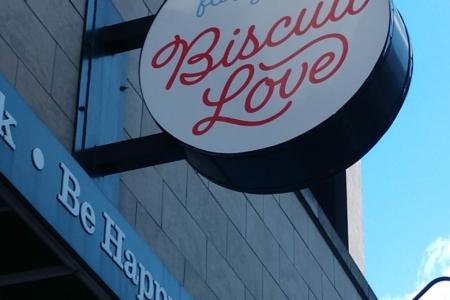 Hanging Exterior Signage for Biscuit Love / 12-Point SignWorks / Franklin TN