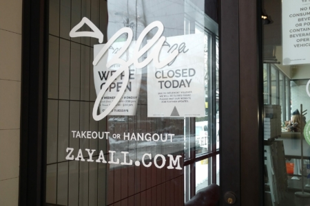Branded Window Graphics for 'Za Yall Wood Fire Pizza in Nashville/ 12-Point SIgnWorks