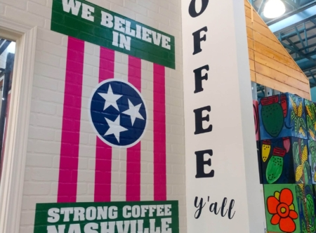 21969- Wall Graphics for Farm City Coffee/ Installation Only/ 12-Point SignWorks/ Nashville