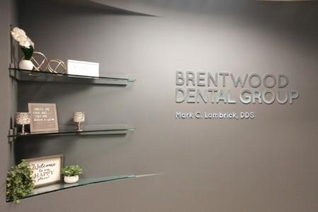 22000 - Brushed Metal Lobby Logo for Brentwood Dental Group/ 12-Point SignWorks/ TN