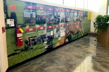Timeline Wall Display for Nashville K-9 in Franklin, TN / 12-Point SignWorks