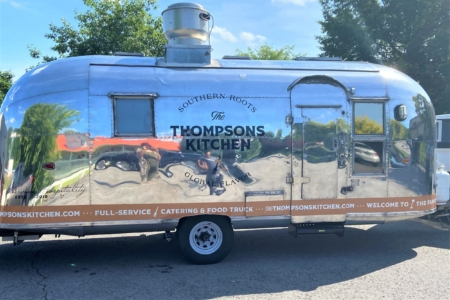 Food Truck Decals for The Thompsons Kitchen in Nashville, TN Installed & Fabricated by 12-Point SignWorks