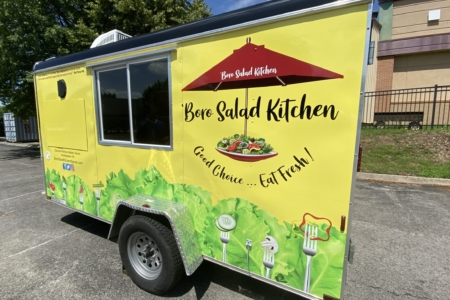 New Food Truck Wrap for Boro Salad Kitchen in Murfreesboro, TN Installed by 12-Point SignWorks