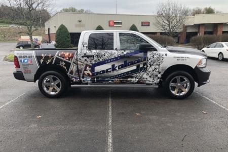 Custom Truck Wrap for Rockology Design & Installed by 12-Point SignWorks/ Franklin, TN