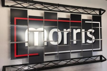 Architectural display signage for Morris Lighting & Sound. 12-Point SignWorks - Franklin TN