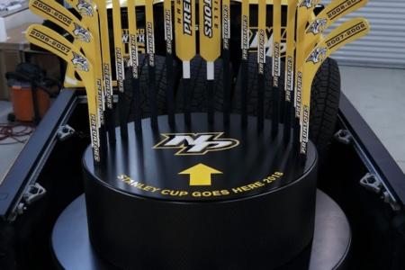 Stanley Cup Trophy Holder Fabricated by 12-Point SignWorks/ Nashville/ Franklin