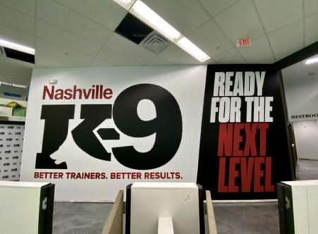 Custom Wall Mural for Nashville K-9 in Franklin, TN/ 12-Point SignWorks