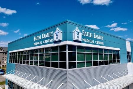 Dimensional Exterior Logo & Letters for Faith Family Medical Center/ 12-Point SIgnWorks