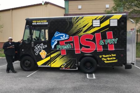 Food Truck Wrap for Fresh Fish & Fry/ Franklin, TN/ 12-Point SignWorks