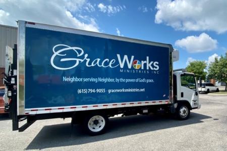 Custom Box Truck Wrap for GraceWorks Ministries in Nashville, TN : 12-Point SignWorks