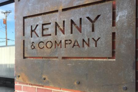 Corten Steel Logo Sign for Kenny & Company/ Nashville/ 12-Point SignWorks