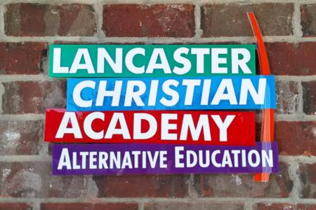 Custom Logo/ Painted Acrylic Panels for Lancaster Christian Academy / Franklin/ 12-Point SignWorks